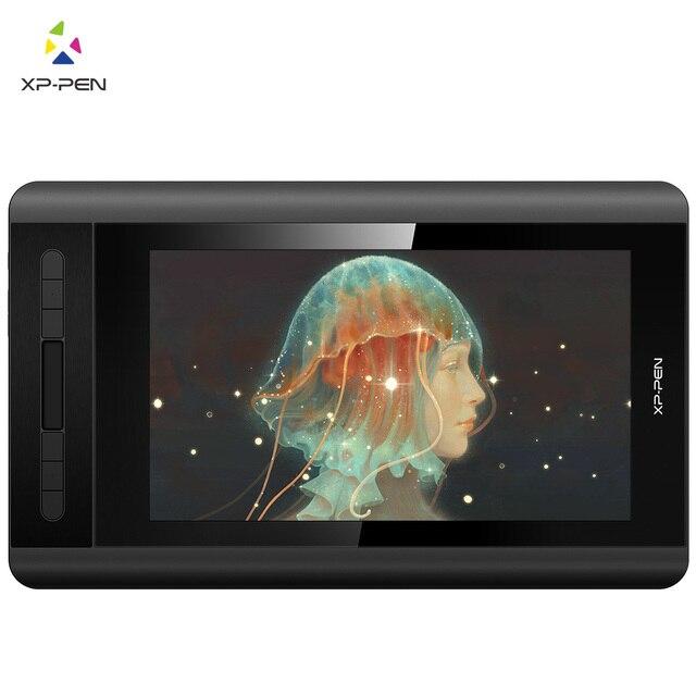 xp-pen artist12 mesa digitalizadora desenho monitor caneta monitor Display gráfico com pn06 battry-free caneta multifuncional suporte de caneta e luva 8192 Sensibilidade de pressão