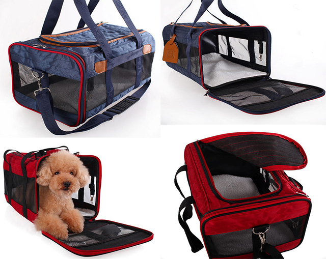 76770c1aa306 Breather Airline Travel Bag Approved Soft Pet Carrier Soft Sided Dog  Carrying Bag for Cats& Puppy Dog Comfort Tote Bags