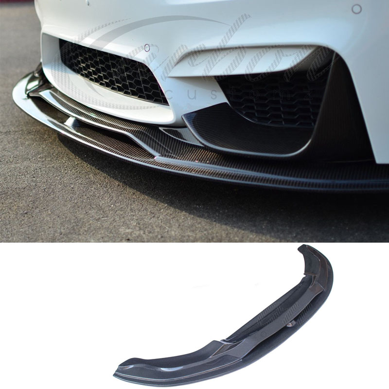 Front Bumper Lip Spoiler Body Kits Carbon Fiber For BMW F80 M3 F82 M4 2014 2018