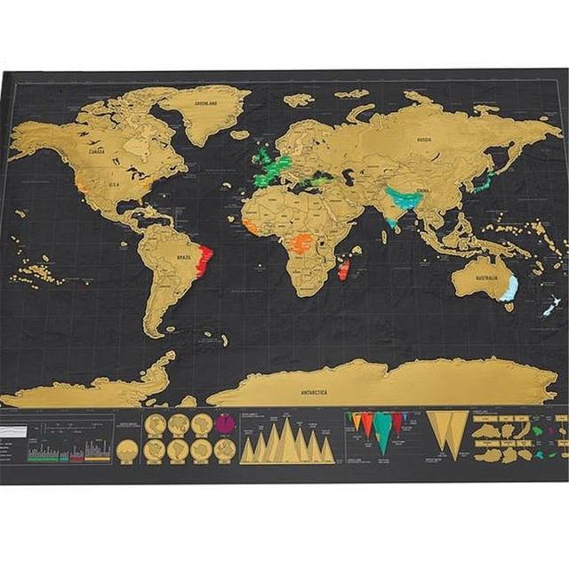 Travel world scratch map gold foil black scratch map scratch off travel world scratch map gold foil black scratch map scratch off foil layer coating world map gumiabroncs Choice Image