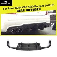 Carbon Fiber / FRP Rear Bumper Diffuser lip for Mercedes Benz C Class W204 C63 AMG C300 Sport Sedan 2012 2014