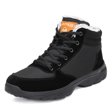 Warm Boots Men Winter Plush Snow Boots Outdoor Safety Shoes Cotton Men