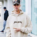 Propósito Tour Kanye West Yeezy Hablar Con Capucha Sudadera Con Capucha de Color Beige Yeezy Propósito Tour Ropa Justin Bieber Gira Temor De Dios