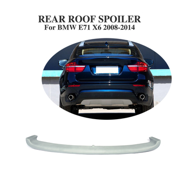 Rear Roof Window Spoiler Windshield Wing For BMW X6 E71 SUV 2008-2014 PU Unpainted Gray image