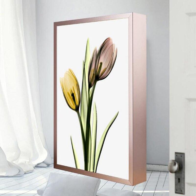 Современный арт деко росписи лампа ботанический цветок пейзаж светодиодный настенный светильник ламп Алюминий сплав