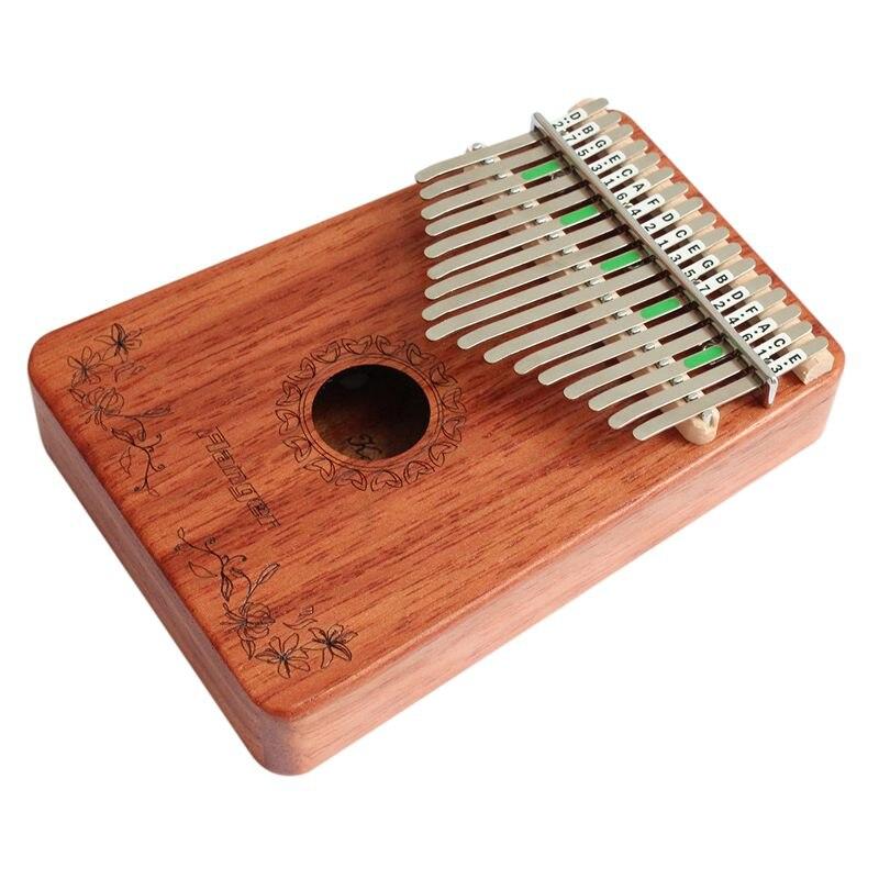 Flanger C 17 Llave Dedo Kalimba Aca Madera Pulgar Bolsillo Tamaño Principiantes Piano Soporte Bolsa Teclado Instrumento De Cuerda De Madera Forma Elegante
