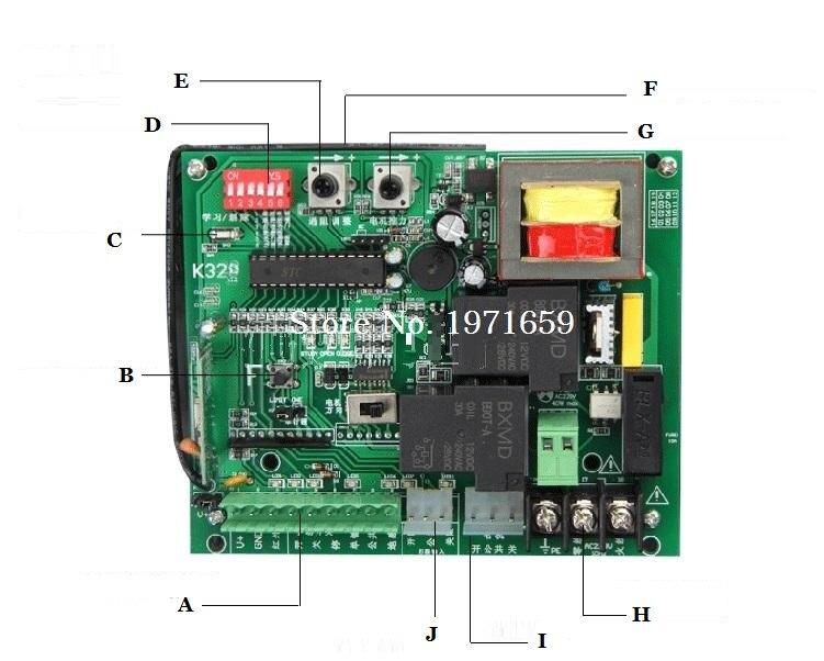 The PCB Control Board For Sliding Gate Motor input ac110v   sliding gate opener motor