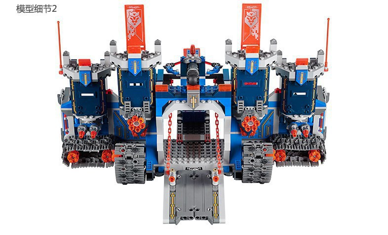 2018 lepines Nexus Knights The Fortrex Castle Building Block Clay Aaron Fox Axl gift block figure toy for kid