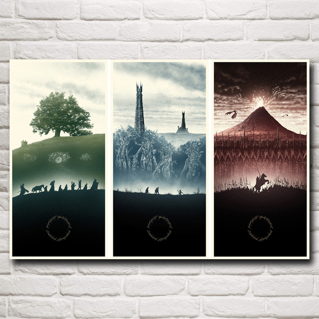 The Lord of the Rings The Shire Bag End Isengard Mordor Movie Art Silk Poster