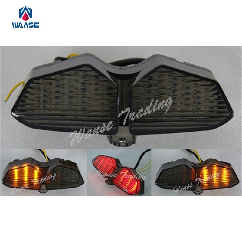 Waase Rear Taillight Tail Brake Turn Signals Blinker Indicator Integrated Led Light Lamp Smoke For 2003 2004 2005 YAMAHA YZF R6