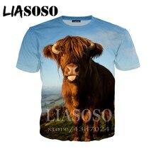 5e6d5f548bdef5 LIASOSO 3D Degli Uomini di stampa della maglietta Donne con cappuccio homme  hip hop mucca divertente