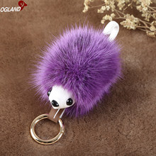 OGLAND Fluffy Sexy Styling Pom Toy Mink Hair Fur Key chain Ring For Ornament Automobile Animal Fur Pendant In Chains as Jewelry(China)