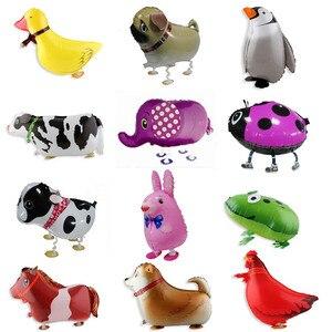 Image 3 - Ballons en feuille de marche, 20 pièces/lot, pour cadeau danniversaire, en animaux de ferme, livraison gratuite