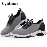 Fashion Breathable Light Height Increasing 7CM Sneakers Male For Men Casual Shoes Adult Student Walking Trend Popular Elevator
