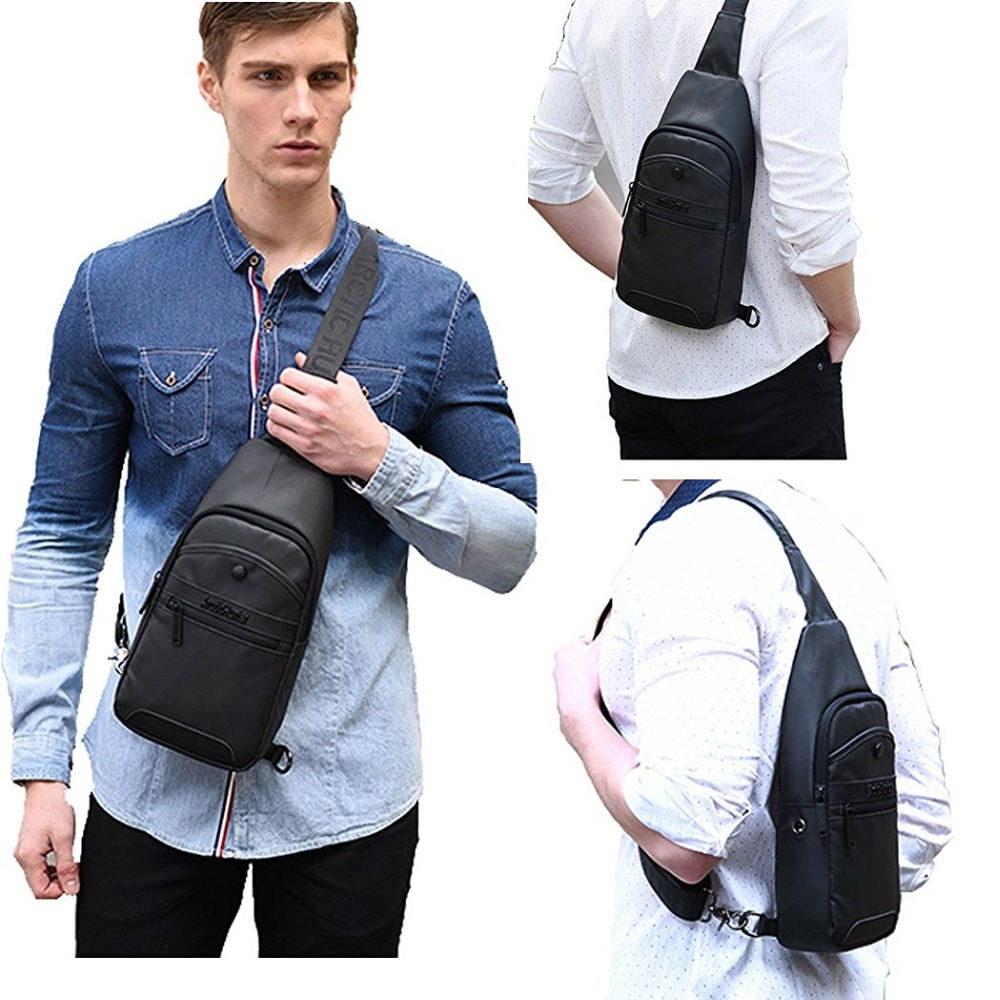 Image 2 - Brand Chest Bag One Shoulder Sling Backpack Daily Travel Crossboy Strap Bags Men Back Bag Casual Personalized Backpacks Stylish-in Backpacks from Luggage & Bags