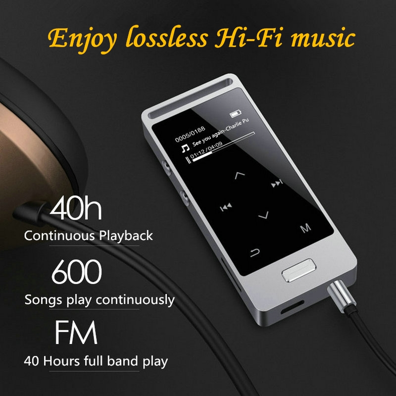 Touch Screen MP3 Player 8GB Yescool X3 Metal APE/FLAC/WAV High Sound Quality Lossless Music Player lyric display with FM radio