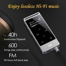 Tela de toque MP3 Player 8 GB De Metal X3 Yescool APE/FLAC/WAV Lossless Leitor de Música de Alta Qualidade de Som exposição lírica com rádio FM