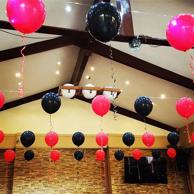 White Rose red Black Latex Balloons Wedding Garland Birthday Party ...