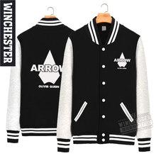 Free Shipping ARROW Fashion Baseball Jersey Hoodies Sweatshirts Fleece Winter Autumn Men Women Gaming Clothing Coat S-3XL