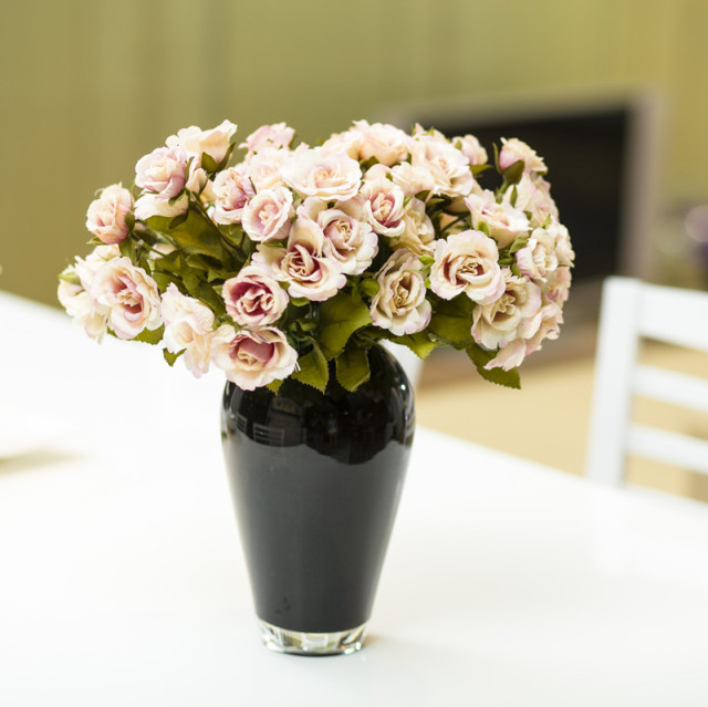 Modern home accessories brief dining table vase glass vase flower modern home accessories brief dining table vase glass vase flower classic black and white flower vase mightylinksfo