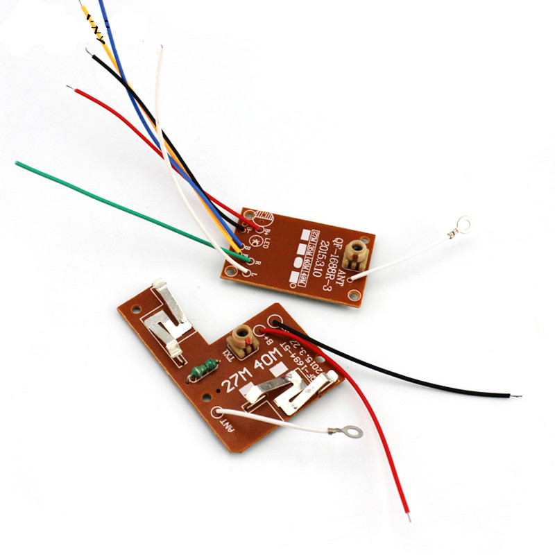 JMT DIY RC Car Truck Robot 4CH <font><b>40MHZ</b></font> / 27MHZ 2CH 27MHZ Remote Controller Transmitter Receiver Board With Antenna image