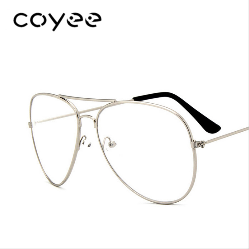 a5b2040acc Detail Feedback Questions about Aviator Glasses Frames Women Men Pilot  Eyewear Frames Clear lens Ultralight Oversize Glasses Vintage Retro  Spectacles RX on ...