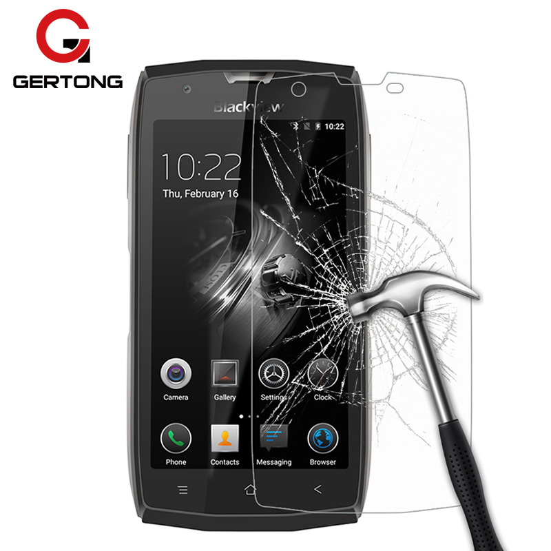 GerTong Premium Tempered Glass for <font><b>Blackview</b></font> <font><b>BV8000</b></font> <font><b>Pro</b></font> BV7000 BV6000 Transparent Precise Hole Screen Protector BV 6000 BV 8000 image