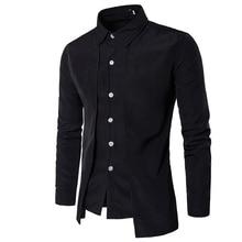 Хит, модная мужская британская рубашка джентльмена с длинным рукавом, вечернее платье, рабочая рубашка на молнии, мужская повседневная Рабочая Рубашка