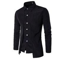 Hot 2017 Fashion Men Gentleman British Long Sleeve Shirt Evening Dress Tooling Zipper Shirt Male Men