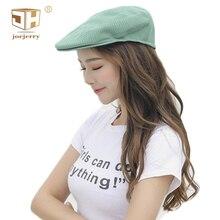 JOEJERRY Cute Green Beret Embroidered Crochet Korean Girl Female Knit Cap With Visor British