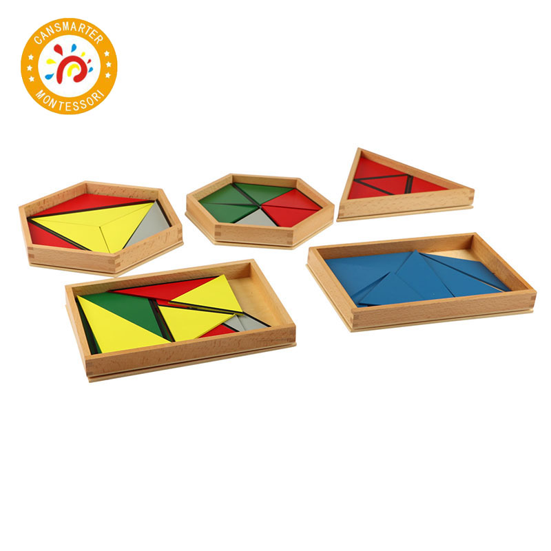 Baby Toy Montessori Materials Wooden Toys Constituting a Triangle Home School Box Geometric Toy Games Jigsaw puzzle - 4