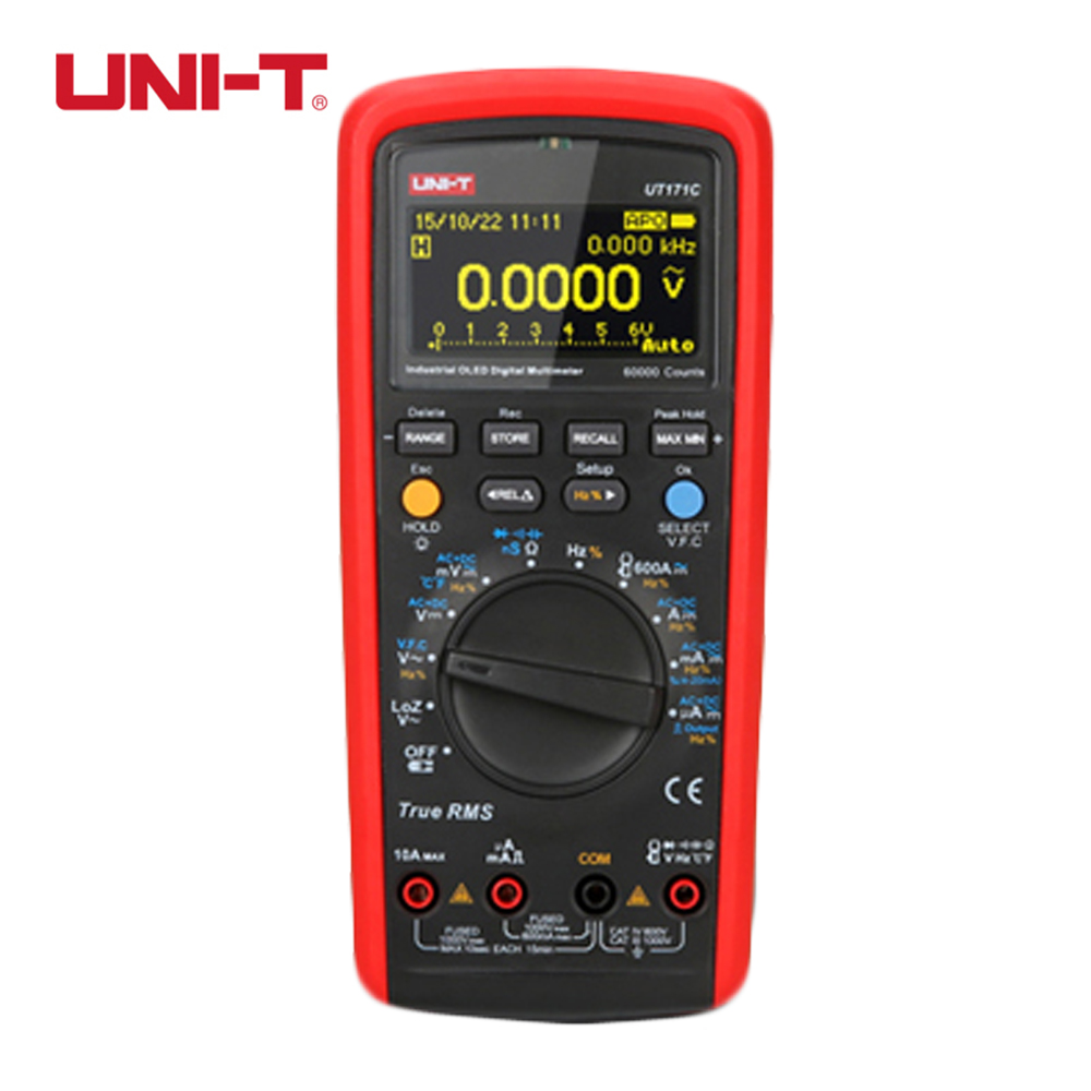 UNI-T UT171B Digital Multimeter Eletronic AC DC True RMS Auto/Manual Range Admittance (nS) C/F Thermometer VFC LCD Backlight  цены