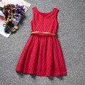 2016 новый летний платье кружевной свободного покроя платье прекрасный маленький ну вечеринку девочку прекрасный платье детской одежды цветочные Patterm мода