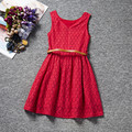 2016 New Summer Dress Lace Casual Dress Lovely Little Party Dress Baby Girl Lovely Dress Children Clothes Floral Patterm Fashion