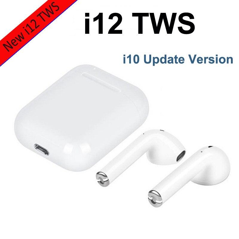 $26.17 i12 Mini TWS Bluetooth 5.0 Earphone Sports Sweatproof true Wireless Earbuds for IPhone X XS Max i 10 S Samsung Huawei i10 TWS