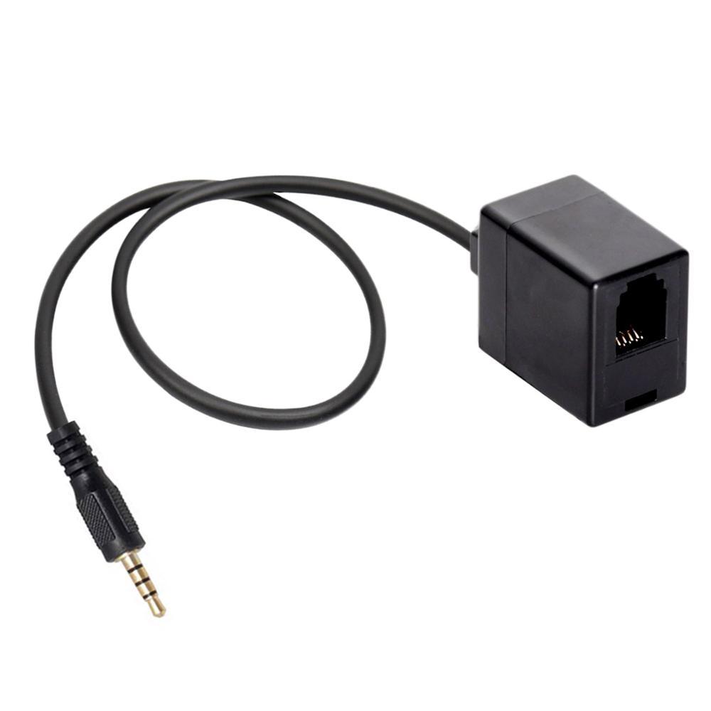 Adaptador hembra RJ9 a 3,5mm, utiliza un auricular RJ9 con un conector de samerteléfono de 3,5mm, conversor de conector RJ9, auriculares a teléfono móvil de 3,5mm
