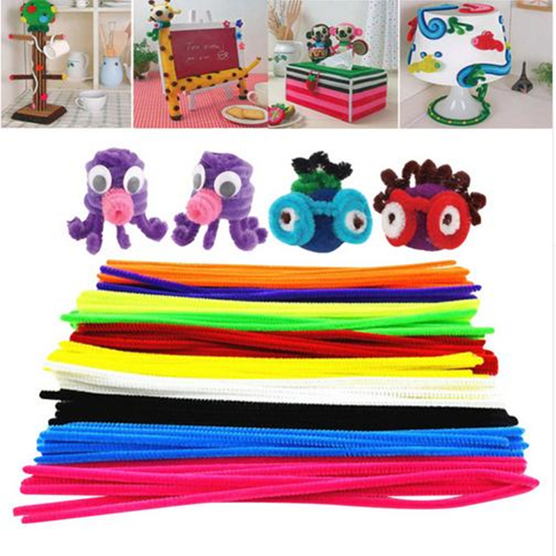 50pcs Cute Animals Maker Materials Chenille Children Educational Colorful DIY Toys Handmade Craft for Kids Girls Birthday Gift