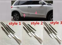 Abaiwai Stainless Steel For Suzuki Vitara 2015 2016 Side Door Body Trim Cover Trims Molding Protector