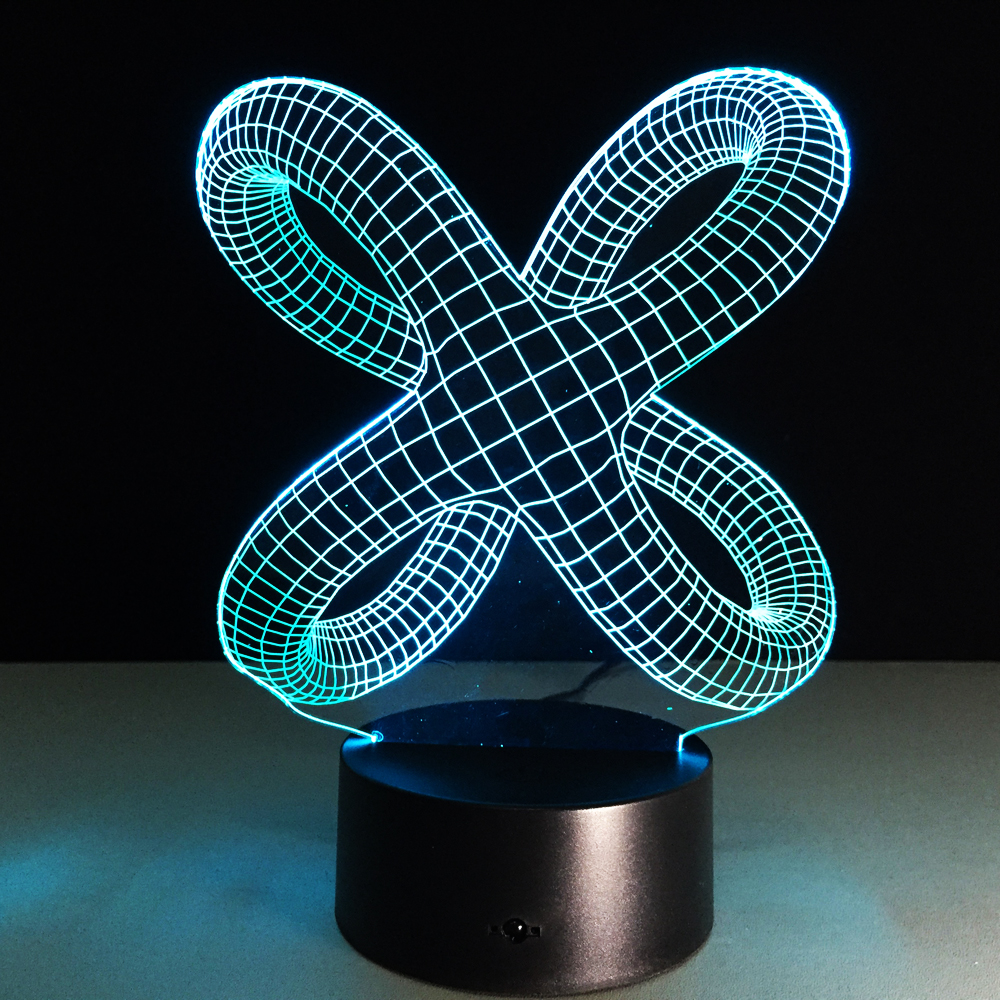 Creative 3D Illusion Lamp LED Night Light 3D Abstract Artist Graphics Lamparas Atmosphere Lamp Novelty Lighting Home Decoration
