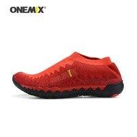 Onemix Men S Knit Vamp Jogging Shoes Women Sport Sneakers Portable Indoor Shoes Breathable Mesh Running