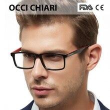 OCCI CHIARI Nam Kính Gọng Kính Mắt Kính Oculos De Grau Gafas Acetate Rõ Ràng Ống Kính Quang Học Cận Thị Bảo Kính Mắt W CAPUA