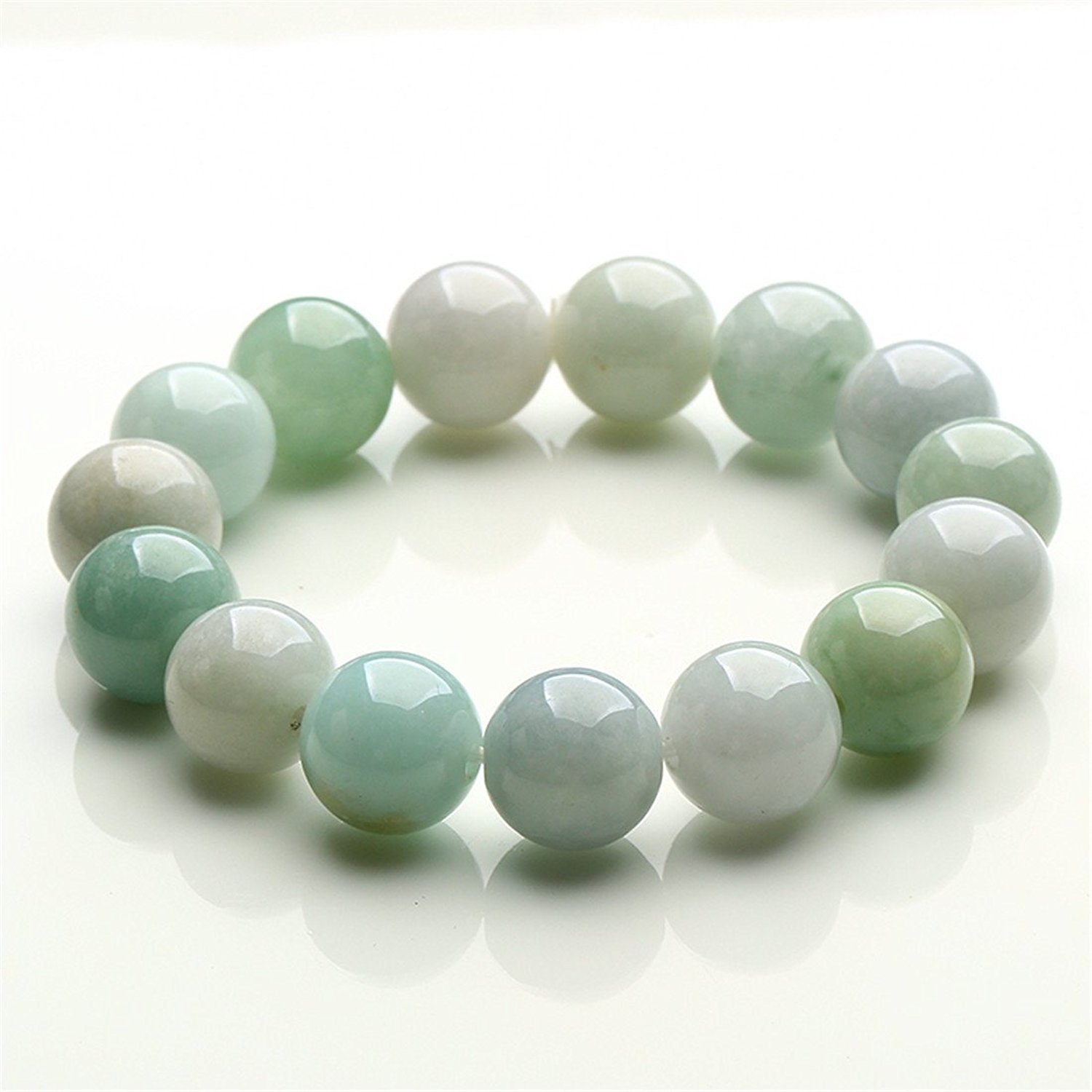 bling silver link green good jade chinese jewelry wj az bracelet symbol luck