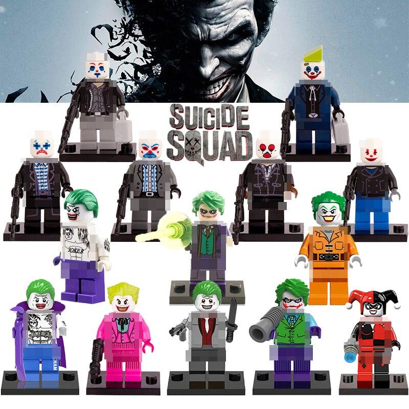 1 шт. Marvel DC отряд самоубийц Джокер DIY цифры Харли Квинн здания Конструкторы Бэтмен Супергерои модели кирпичи фигурки детей Игрушечные лошадк... ...