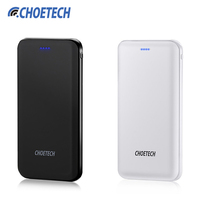 CHOETECH 10000mAh Power Bank 5V 2.4A Dual Input Portable External Battery Charger Power for iphone 7 plus Mobile Phones Tablets