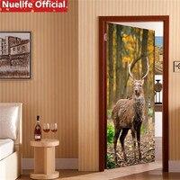 77x200cm in the forest deer pattern living room bedroom kids room kindergarten waterproof decoration door stickers