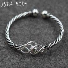 Атанасиос режим Новая мода витой тонкие полые 925 Тайский серебряные браслеты ювелирные изделия серебряный браслет любви браслеты для женщин PKY292