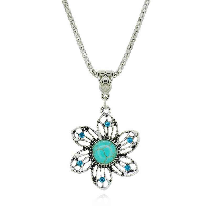 Famous Brand Jewelry Tibetan Silver Color with Flower