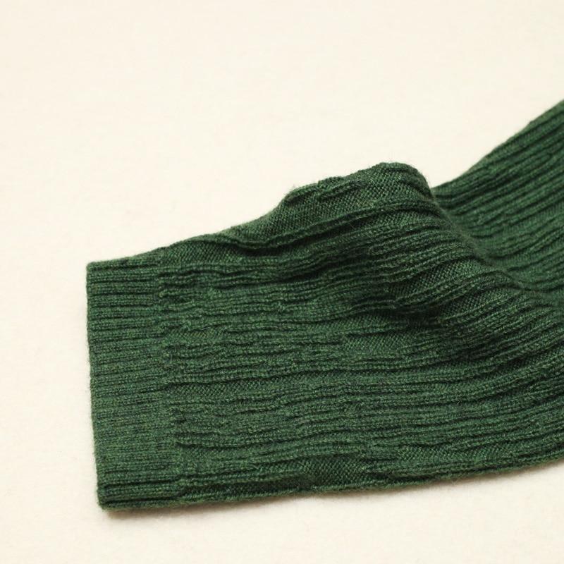 Noir Ol Mélange Robe Hem Laine Banlieue vert Femmes A ligne Dentelle Plissée Couleur Solide Tempérament Marque Nouveau Automne Hiver qRT5g8