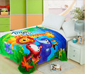 150x200cm Thicken Cartoon Pink Printed Air Conditioning Coral Fleece Blanket Knee Sleeping Blanket Free Shipping!