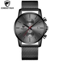 CHEETAH Watches Men Luxury Brand Watch Quartz Sport Military Men Full Steel Wristwatches Business Casual Watch Relogio Masculino
